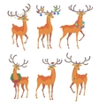 Reindeer Christmas icon Moving deer vector image