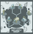 security color concept isometric icons vector image vector image