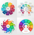 set 4 infographic templates with 9 options vector image vector image