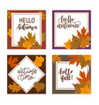 set autumn fashion background square size vector image vector image