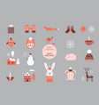 set cartoon elements and characters vector image vector image