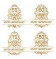 set golden anniversary vintage emblems for vector image vector image