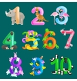 Set of ordinal numbers for teaching children vector image vector image