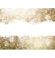 Shining Gold Elegant Christmas Background EPS 10 vector image