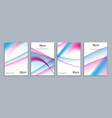 simple minimal covers abstract 3d meshes template vector image