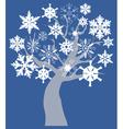 snow tree vector image vector image