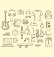 teenage stuff young boys and girls clothes vector image vector image