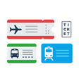tickets for public transport flat isolated vector image