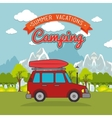 travel camping day landscape vector image