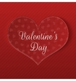Valentines Day greeting Card with Hearts Pattern vector image vector image