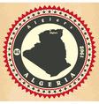 Vintage label-sticker cards of Algeria