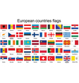 European countries flags vector image
