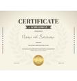 Certificate Achievement Brown laurel wreath vector image
