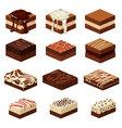 brownies vector image