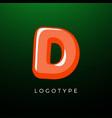 3d playful letter d kids and joy style symbol