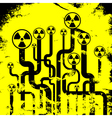 Abstract radiation background vector image