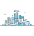 abstract skyline city skyline architecture vector image vector image