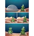 alien robot space scene