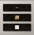 banners with black and gold pattern vector image