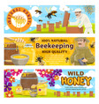 beekeeping and wild honey on apiary vector image vector image