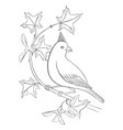 bird at tree branch vector image vector image