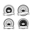 Black and white retro crown stamps vector image vector image