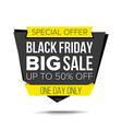 black friday sale banner up to 50 percent vector image