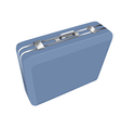 blue suitcase vector image vector image