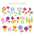 bright child garden flowers and butterfly vector image vector image
