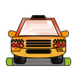 cab flat scribble vector image vector image
