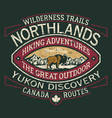 canada hiking trail wild north discovery vector image vector image