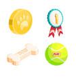 cartoon icon pet shop vector image vector image