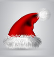 cartoon santa hat isolated on white background vector image vector image