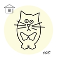 cat thin line icon vector image vector image