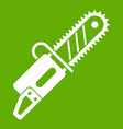 chainsaw icon green vector image vector image