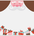 christmas santa poster or a card with a place vector image