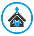 Church Flat Icon vector image