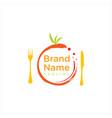 Circle fruit food logo catering logo