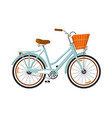 classic woman bicycle isolated icon vector image vector image