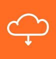 cloud line icon internet download symbol flat on vector image