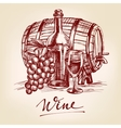 collection wine hand drawn llustration vector image vector image