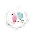 colorful cute couple birds vector image