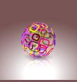 conceptual technology logo abstract globe made vector image vector image