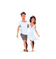 couple in love happy valentines day concept young vector image vector image