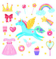 cute magic set vector image