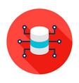 data server microchip circle icon vector image vector image