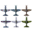 Different design of fighting planes vector image