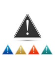 exclamation mark in triangle icon isolated vector image vector image