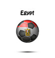 flag of egypt as an soccer ball vector image