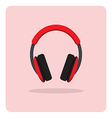 flat icon headphones vector image vector image